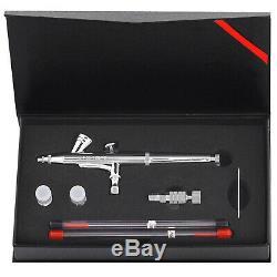 Nail Art Kit Complet Airbrush 24 Couleurs 480 Pochoirs Avec Compresseur Set