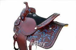 New Western Saddle Avec Une Combinaison De Couleur Marron Et Bleu Avec Jeu Complet