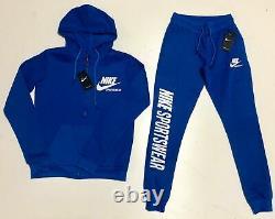 Nike Sweat Suit Ensemble Complet Homme Full Zip Hoodie & Joggers Fleece Sweatsuit