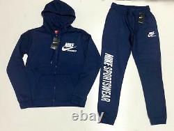 Nike Sweat Suit Top & Bottom Ensemble Complet Full Zip Fleece Flambant Neuf