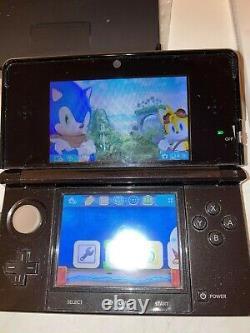 Nintendo 3ds Cosmo Black Ensemble Complet Testé Original Tout Gratuit Shippin