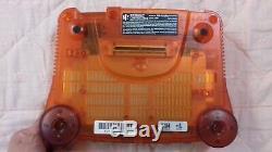 Nintendo 64 N64 Funtastic Feu Orange Console Box Set Complet