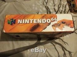 Nintendo 64 N64 Funtastic Feu Orange Console Box Set Jeu Complet +