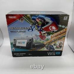 Nintendo Wii U 32gb Mario Kart 8 Edition Deluxe Set Console Complete In Box
