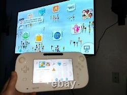 Nintendo Wii U (8 Go White Jeu Console System) Version Américaine Ensemble Complet Avec Jeux