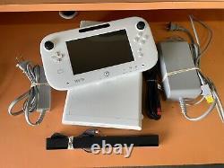 Nintendo Wii U Basic Set 8 Go White Console Handheld System Complete Set Testé