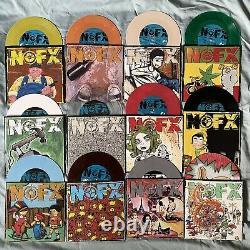 Nofx 7 Pouces Du Mois 2005 Fat Wreck Color Vinyl Full Complete Set