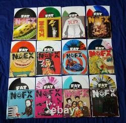Nofx 7 Pouces Du Mois 7iotm Fat Store Couleur Vinyle Complet Ensemble Complet Bundle