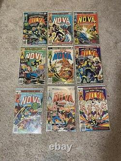 Nova Marvel Comic Book Lot Grande Condition Rare Ensemble Complet! Numéro #1-25