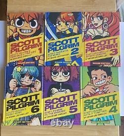 Oni Press Scott Pilgrim Full Color Hardcover Complete Set Volumes 1-6 Oop Rare