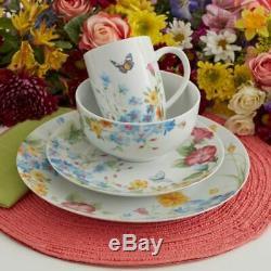 Pfaltzgraff 32 Piece Colorful Butterfly Garden Service Set Pour Vaisselle 8 Nouveau