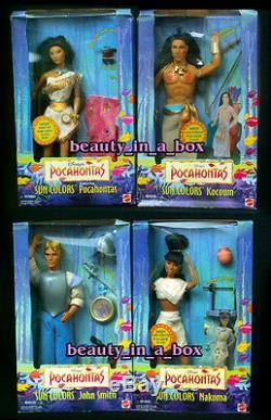 Pocahontas Doll John Smith Kocoum Nakoma Sun Couleurs Disney Lot 4