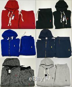 Polo Ralph Lauren Sweatsuit Haut Et En Bas Complete Set Toutes Les Couleurs Brand New