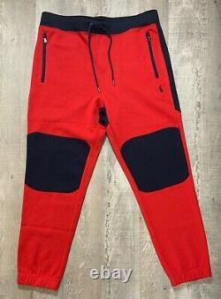 Polo Ralph Lauren Track Suit Black Red Men's Hoodie + Sweat Pants Ensemble Complet