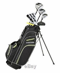 Précise M3 14 Piece Hommes Complete Right Hand Golf Club Set 2 Couleurs Et 3 Tailles