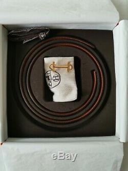 Preowned Hermes Ceinture 13mm Avec Boucle Gamma Blush / Set Complet Couleur Capucine