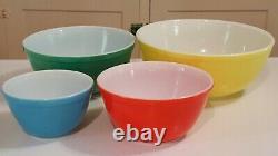 Pyrex Bowl Jeu Complet De 4 Couleurs Primaires Nesting Saladiers