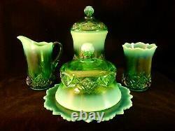 Qualité Du Musée! Ensemble De Table Complet Emerald Diamond Spearhead
