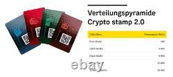 Rare Timbre Crypto Autrichien 2.0 5 Ensembles Complets, 20 Couleurs Non Ouvertes Inconnues