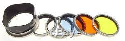 Rolleiflex Riii 3 Filtre Complet Réglé En Cas 5x Filtre De Couleur Et Le Capot Lentille Alose