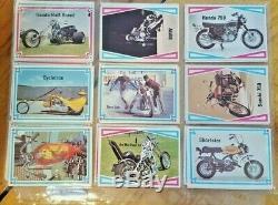 Rue Chopper & Hot Bike 1972 Trading Card Set Complet 66 Couleur Carte