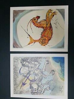 Salvador Dali Douze Signes Zodiacaux Ensemble Complet De 12 Couleurs 1969 18 × 14