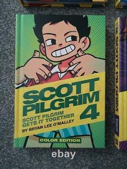 Scott Pilgrim Color Graphic Novels 1-6 Complete Set Hardback Books Oni Press