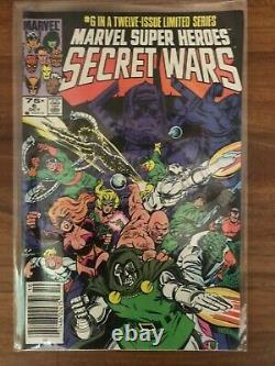 Secret Wars #1-12 Marvel Comics Ensemble Complet 1984 Près De Mint Blue Galactus