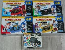 Sega Game Console De Vitesse Micro 4 Couleurs Ensemble Complet 30e Anniversaire Gg Withwindow
