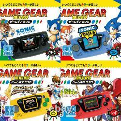 Sega Game Gear Console Micro 30e Anniversaire 4 Couleur Jeu Complet Withwindow