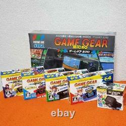 Sega Game Gear Micro 4 Color Complete Set + 16 Pins Collection Box Limitée