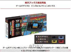 Sega Game Gear Micro 4 Color Complete Set + Big Window Micro Avantages Nouveau