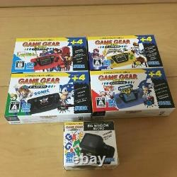 Sega Game Gear Micro 4 Color Complete Set + Big Window Micro Benefits Japon Nouveau