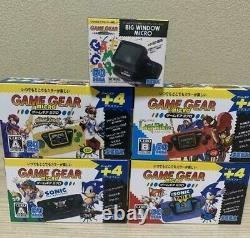 Sega Game Gear Micro 4 Couleur Ensemble Complet Plus Big Window Micro 30e Japon
