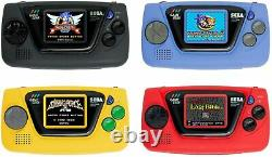 Sega Game Gear Micro 4 Couleurs Ensemble Complet + 16 Boîte Collection Pins Ensemble