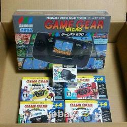 Sega Game Gear Micro 4 Couleurs Ensemble Complet + 16 Boîte Collection Pins Limitée