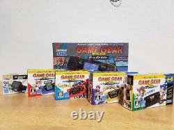 Sega Game Gear Micro Console 4 Couleurs Ensemble Complet Avecbig Windowopened Black Box