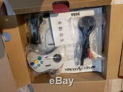 Sega Saturn Console Genèse Non Utilisée Jeu Dreamcast Blanc Ensemble Complet Couleur Sonore