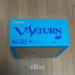 Sega Saturn V Victor Console Système Rg-jx2 (y) Rare Ensemble Complet Couleur Gris