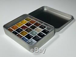 Sennelier Aquarelle Peinture Set. 98 Demi-pan Lot 4 Tins Gamme Complète Couleur