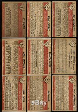 Set 1953 Bowman Baseball Couleur Complète Carte 160 Vg + Ensemble Mickey Mantle