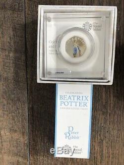 Set Complet Complet Peter Rabbit / Beatrix Potter Coins 50p Couleur 2016 +