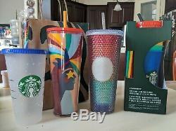 Starbucks Été Fierté 2020 Color Cups Changement 5 Pack, Confetti, Tumbler