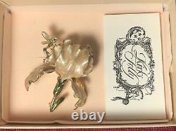 Superbe Coffret Cadeau De Couleur Champagne Kirks Folly Iris Fairy Brooch Pin