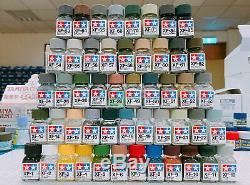 Tamiya Color 80301-80385 Xf-1 À Xf-85 Peinture Émail Plat Complet 50 Bouteilles Set