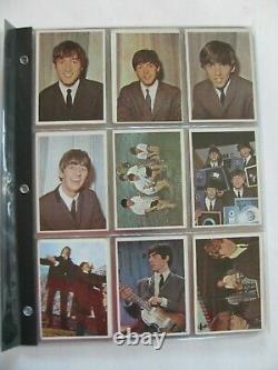 The Beatles Complete Set Topps Color Photos Cartes À Échanger 1-64 1964