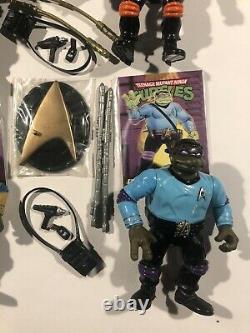 Tmnt Star Trek Mike Leo Raph Set 1994 Complétez Toutes Les Variations De Couleur D'arme