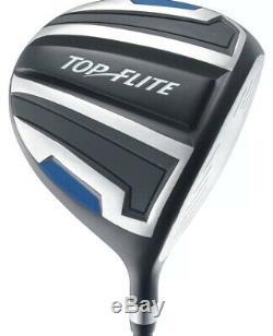 Top Flite Golf Complete Set Withbag Age 9 Pièces 9-12 4 Couleurs Droite Et Main Gauche