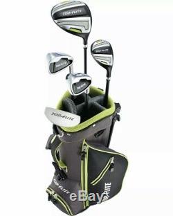 Top Flite Golf Junior Ensemble Complet 8 Pièces Avec Sac 5-8 Ans Rh Nouveau 2 Couleurs