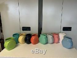 Type De Fiesta 2 Vases Millenium, Une Série Complète (10 Couleurs Différentes)